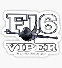 F16 fighter the Viper Sticker