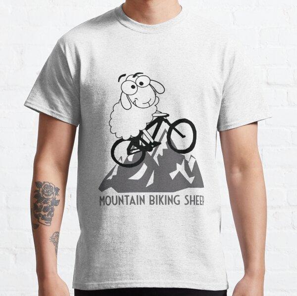 Funny Mountain Biking Sheep Mountains Cycling MTB Gifts Sheep Classic T-Shirt