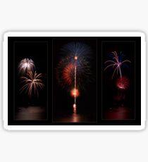 Fireworks triptych Sticker