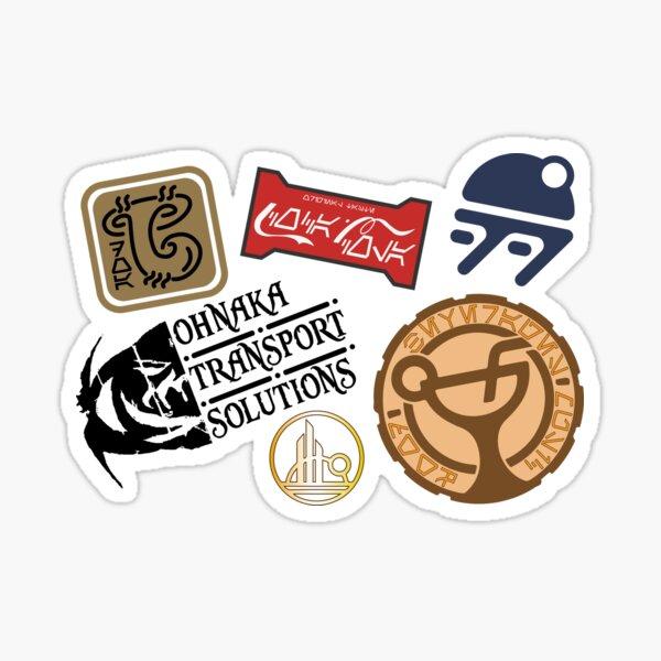 Batuu Luggage logos Sticker