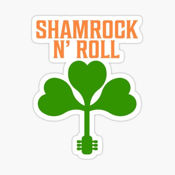 Shamrock N Roll T Shirt Sticker