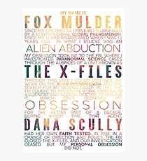 The X-Files Revival - Light Photographic Print