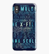 The X-Files Revival - Blue iPhone Case/Skin