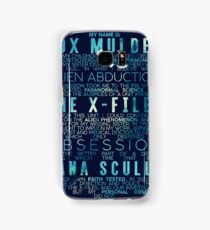 The X-Files Revival - Blue Samsung Galaxy Case/Skin