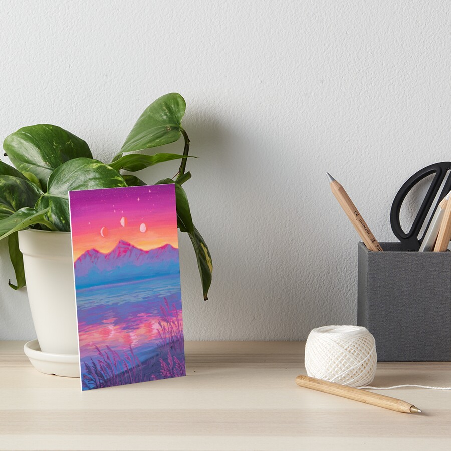 Zodiac Signs as Landscapes - Cancer Art Board Print