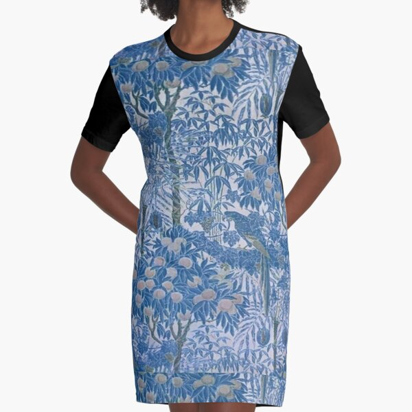 Floral Haze Graphic T-Shirt Dress