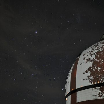 MBO Dome with Sirius and tree shadow by MBObservatory
