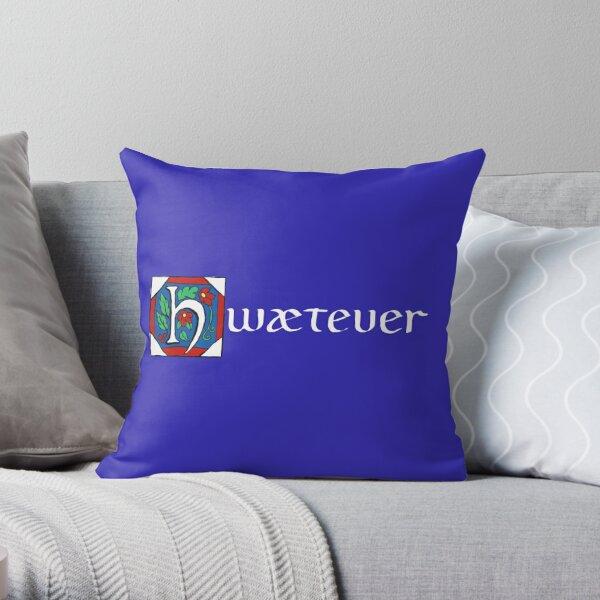 Hwætever! (Alternate Color) Throw Pillow