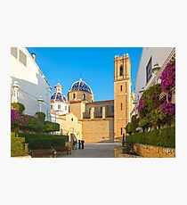 "Church of La Mare de Déu del Consol (""Our Lady of Solace"") in Altea  Photographic Print"