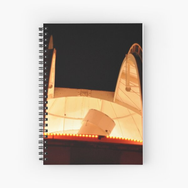 """MBO Dome with 18"""" Telescope at Night Spiral Notebook"""