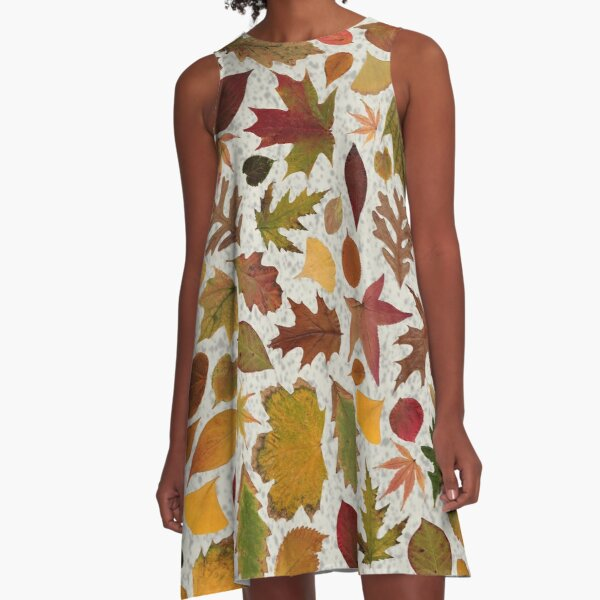 AutumnLeafSpeckle A-Line Dress