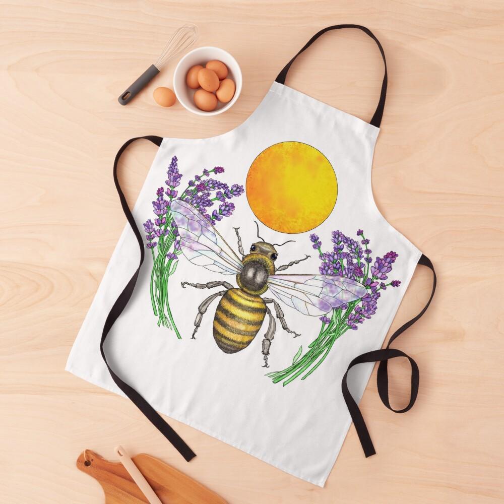 Full Moon Honey Bee Apron