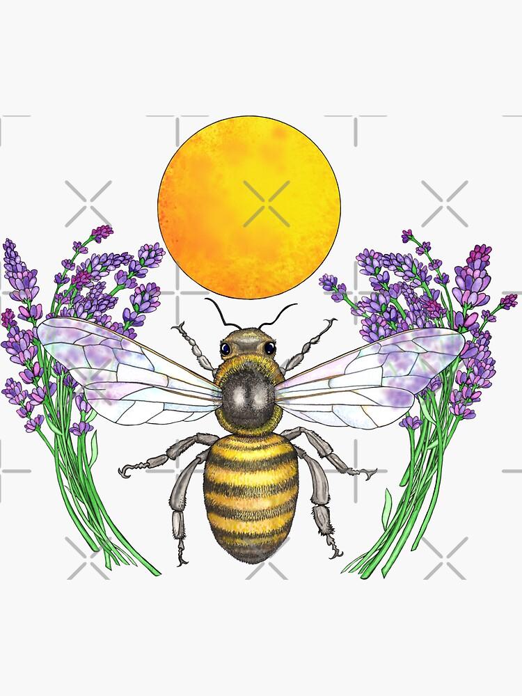 Full Moon Honey Bee by junebugscorner