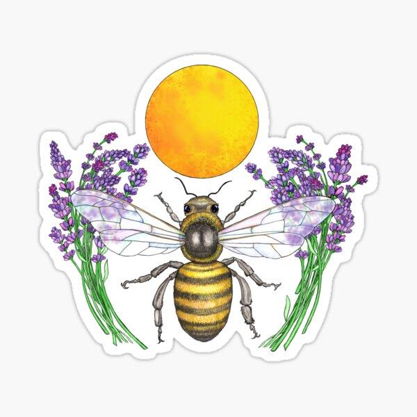 Full Moon Honey Bee Sticker