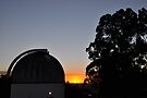MBO Dome at Sunset by Mount Burnett Observatory