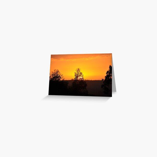 Sunset from the Mount Burnett Observatory Greeting Card