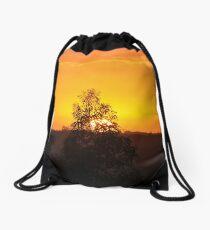 Sunset from the Mount Burnett Observatory Drawstring Bag