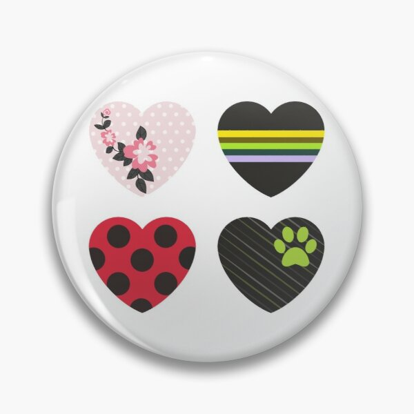 Love Square Hearts Pin