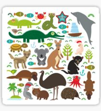 Funny australian animals Sticker