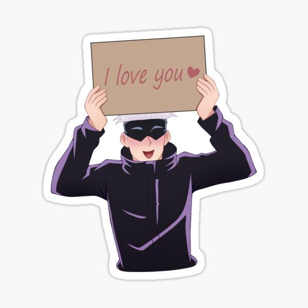 "[Jujutsu Kaisen] Satoru Gojo - Signe ""Je t'aime"" Sticker"