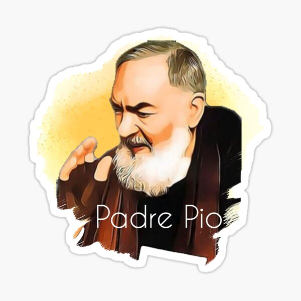 Padre Pio blessing drawing Sticker