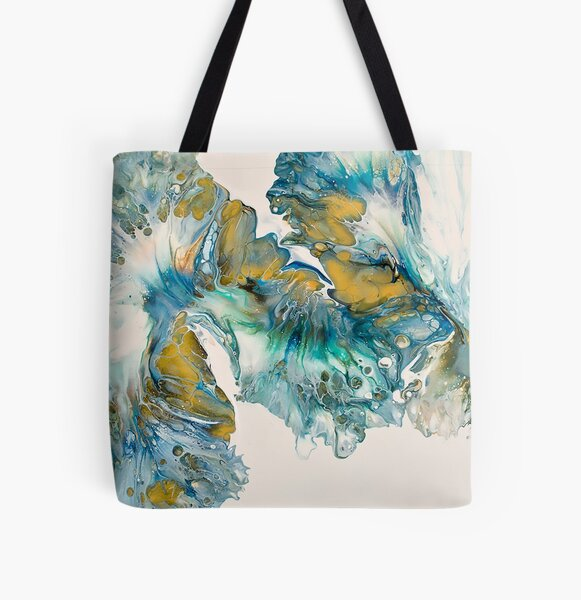 Peacock Feathers All Over Print Tote Bag