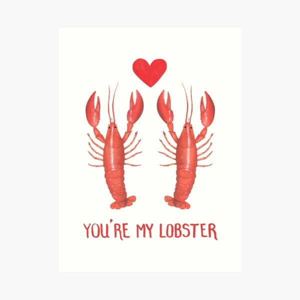Lobster Love Art Print