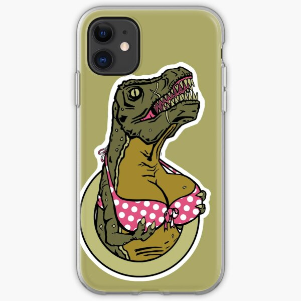 DINOSAURS WITH TITS - iPHONE iPhone Soft Case