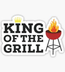 King of the grill Sticker
