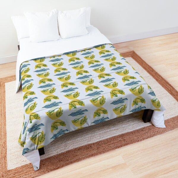 Folk Art Bird and Blossoms Comforter