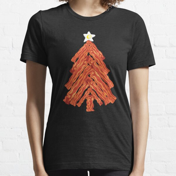 Funny Bacon and Egg Christmas Tree Essential T-Shirt