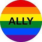 LGBT Ally Rainbow Circle by Jacob Sorokin