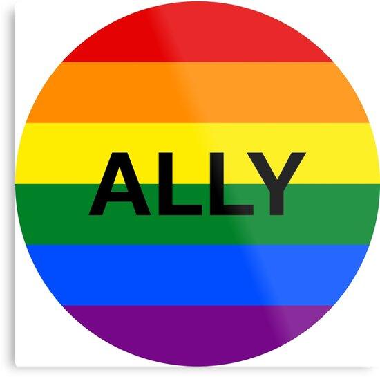 Lgbt Ally Rainbow Circle Metal Prints By Jacob Sorokin Redbubble