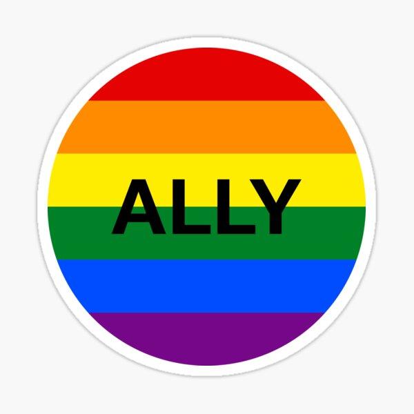 LGBT Ally Rainbow Circle Sticker