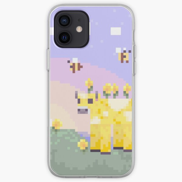 Minecraft Earth: Moobloom & Bees Portrait iPhone Soft Case
