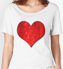 Heart With Grungy Bevelled Texture Women's Relaxed Fit T-Shirt