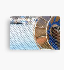 The fishing net lying in the sun. Canvas Print