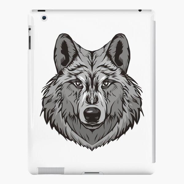 Wolf Sticker grey wolf iPad Snap Case