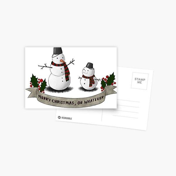 Merry Christmas or whatever Postcard