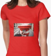 post cork  Women's Fitted T-Shirt
