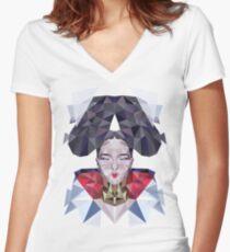 Freezing Sugarcube Women's Fitted V-Neck T-Shirt