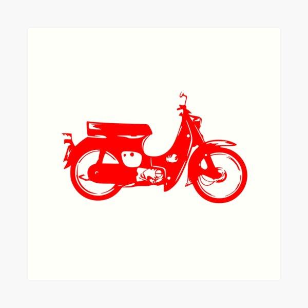 Super Cub 50 Rapid & Nifty Honda Moped Red Art Print
