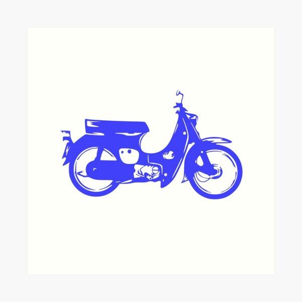 Super Cub 50 Rapid & Nifty Honda Moped Blue Art Print