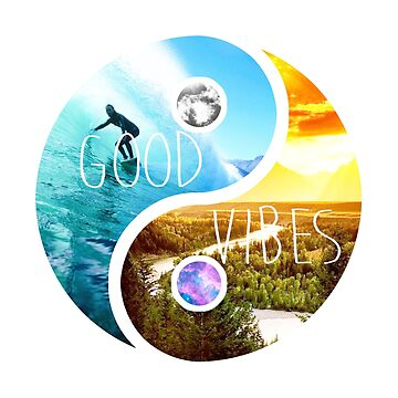 Good Vibes - Yin & yang by PatrickNewton