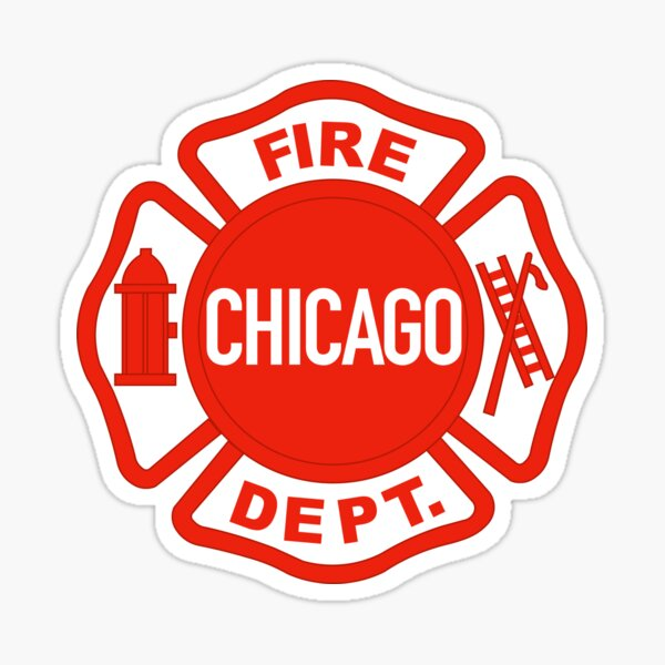 CHICAGO FIRE LOGO Sticker