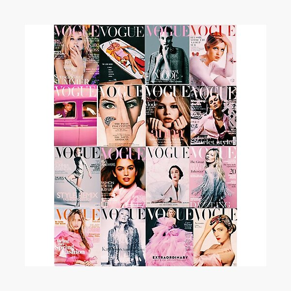 Vogue Covers Photographic Print