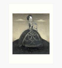 John Bauer, Girl with blue bird Art Print