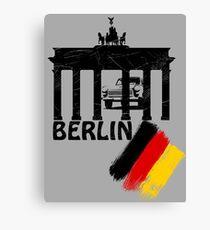 berlin, germany flag, trabant Canvas Print