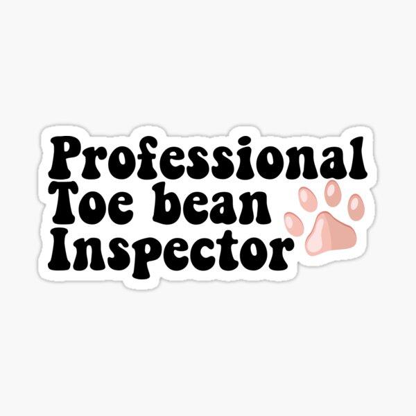 Professional Toe Bean Inspector Vet Tech Pink Paw  Sticker