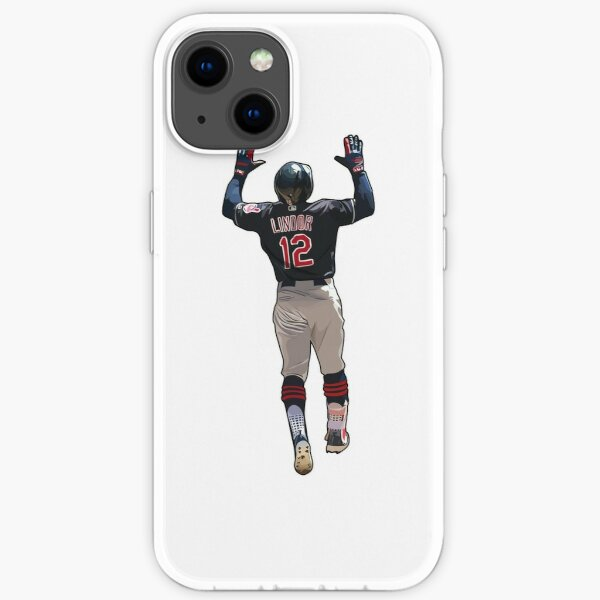 Francisco Lindor #12 Two Hands Up  iPhone Soft Case